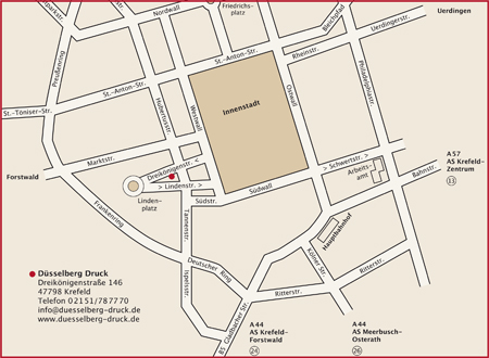 Druckerei Düsselberg Krefeld Briefbogen Visitenkarten